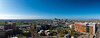 Panorama image of downtown Buffalo, including the Medical School Building, from the roof of Buffalo General Hospital in May 2019.<br /> <br /> Photographer: Douglas Levere