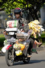 The motorcycle is used to transport anything and everything around Jakarta, often in unbelievable quantities.