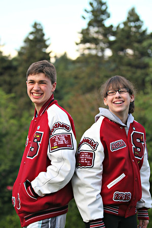 Jake and Alyssa Letter Jackets