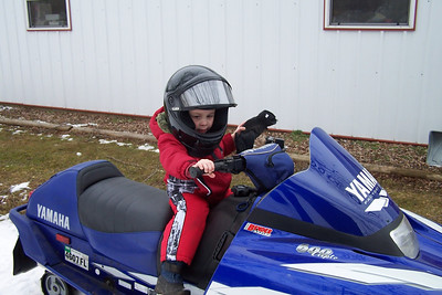Jake's 1st Snowmobile Ride