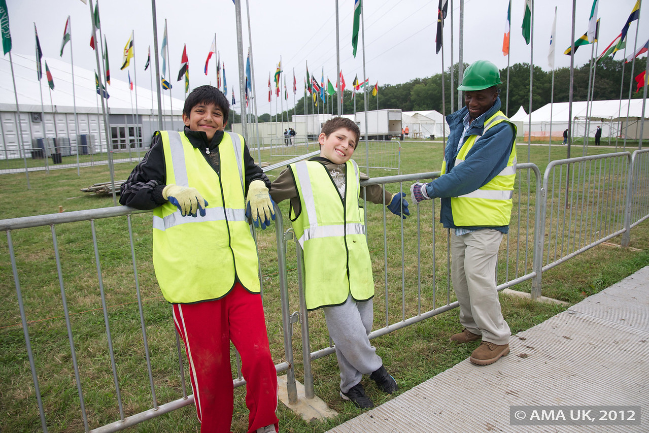 These guys were very very and involved in setting up the barriers and happy to oblige  to have their photo taken