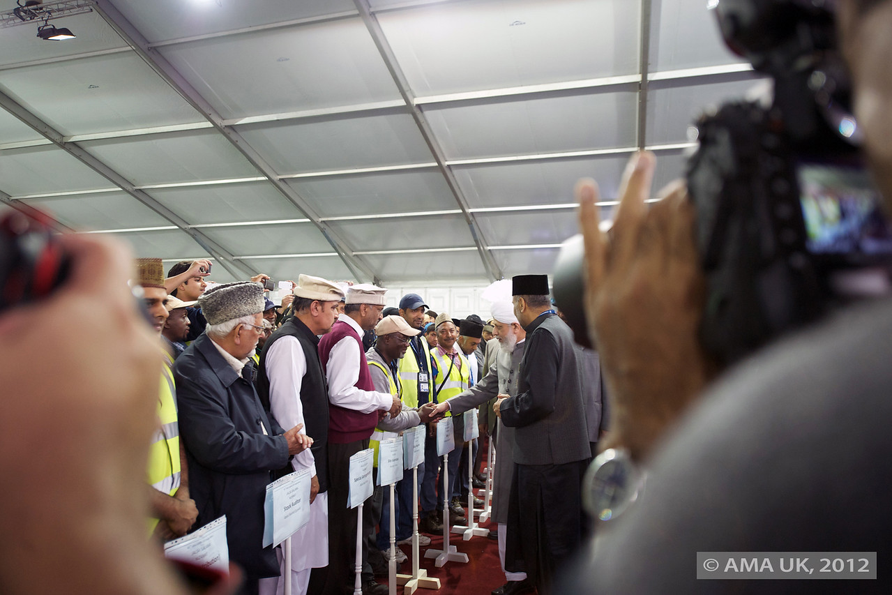 Hudhur Aqdas (atba) meeting main officials... these photographers... always get in my way :-)