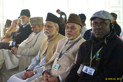 Delegates in the Jalsa marquee