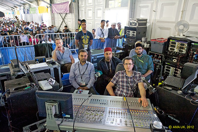 Just part of the MTA UK crew manning the audio - just look at all those button and controls and machines in the background (Ref:JAL_5762)