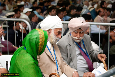 Guests from the Sikh community inside the main marquee just before the start of the afternoon session. (REF: JSSAT2012- 63 copy 2)