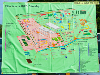 The site map of Jalsa Salana 2012 showing various sections spread over many acres. (Ref: Jalsa 2012_296)