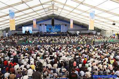 Jalsa Salana Day 1_TCho-2442 Huzur's (aba) address at the Jalsa - day 1