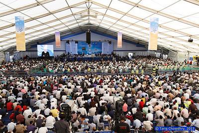 Jalsa Salana Day 1_TCho-2442 Huzur's (aba) address at the Jalsa - day 1