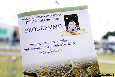 JA3_4555 The Jalsa Programme providing details of the 3-day event and other information.