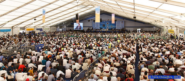 Jalsa Salana Day 1_TCho-2376 High rise view of the main Jalsa marquee.