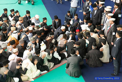 Jalsa Salana Day 3_TCho-3067  Birds eye view of the International Bai'at.
