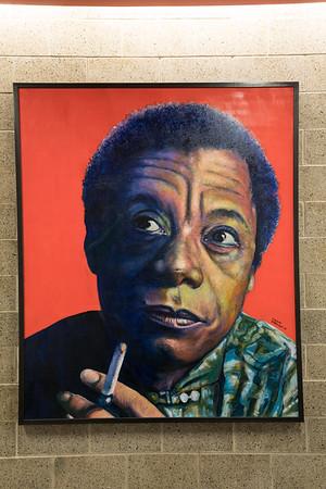 James Baldwin Portrait painted by Lonnie Robinson