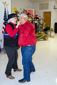 James Frazier and Sue Coonfield of Crowder have a great time dancing at the appreciation dinner in Coalgate.