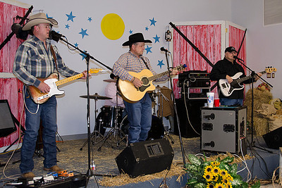 Dale Moser and the Black Horse Band provided entertainment at the appreciation dinner held in Councilman James Frazier's honor. The band was a big hit with the crowd in Coalgate.