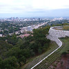 At getty, looking back over la