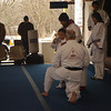 Abby testing for her yellow belt at Christian Soldiers Karate