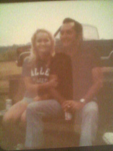 the 70's - Me and my Uncle Bert Limbock at our Farm in Boxelder, Texas - that's my Dad's truck in the background - I was in High School then