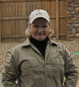 This is me in my Volunteer Naturalist uniform for Colorado State Parks - Barr Lake