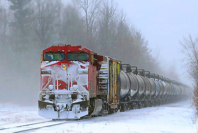 Canadian Pacific crude oil #608, Lacolle, Qc