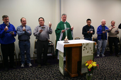 The final mass ended with a candle ceremony representing the continuation of the conversations begun.