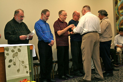 Fr. Robb Naglich and Br. Clay Diaz were cup ministers at the morning mass.