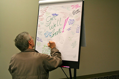 SCJs signed a get-well card for Fr. Steve Huffstetter who is just beginning treatment for cancer.