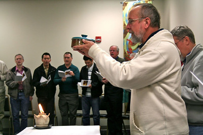 Fr. Byron Haaland was the prayer leader for Wednesday's adoration