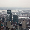 View over downtown Montreal looking towards Victoria Bridge