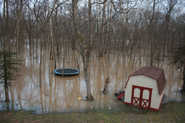 White River in Anderson flooded at 14.44ft crest, 8:15am January 14, 2013<br /> <br /> Photographer's Name: Rachel Landers<br /> Photographer's City and State: Anderson, IN