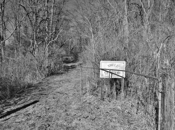 Entrance to Shell Cemetery near Frankton...a very small pioneer cemetery barely noticeable from the road.<br /> <br /> Photographer's Name: Colleen Sanders Brown<br /> Photographer's City and State: Anderson, Ind.