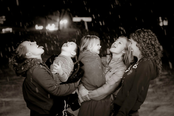 Celebration! My grandchildren, who live in the Bahamas, are so excited to experience snow. It's like a magical world to them. Their aunts, my daughters are making a big deal of it.<br /> <br /> Photographer's Name: Terry Lynn Ayers<br /> Photographer's City and State: Anderson, Ind.