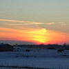 A winter sunset on Delaware CR900W facing east into Madison County.  Taken Jan. 8<br /> <br /> Photographer's Name: David E. Sumner<br /> Photographer's City and State: Anderson, IN