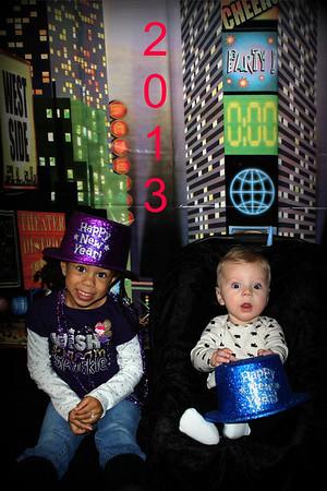 Happy New Year 2013  Madison Johnson and Mason Vandergrift Children of Chris & Julie Vandergrift Grandchildren of Patti Safford<br /> <br /> Photographer's Name: Patti Safford<br /> Photographer's City and State: Anderson, IN