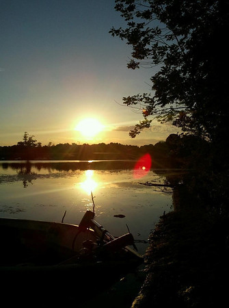 This photo of a sunrise was taken in July 2012 during a camping weekend at Summit Lake ,     We live in  Anderson, IN<br /> <br /> Photographer's Name: Jenee Wilber<br /> Photographer's City and State: Anderson, IN