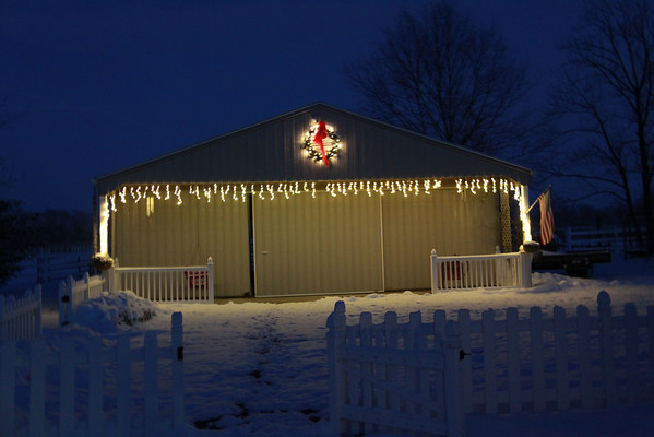 Barn All Decked out for Christmas<br /> <br /> Photographer's Name: Jan Apple<br /> Photographer's City and State: Markleville, IN