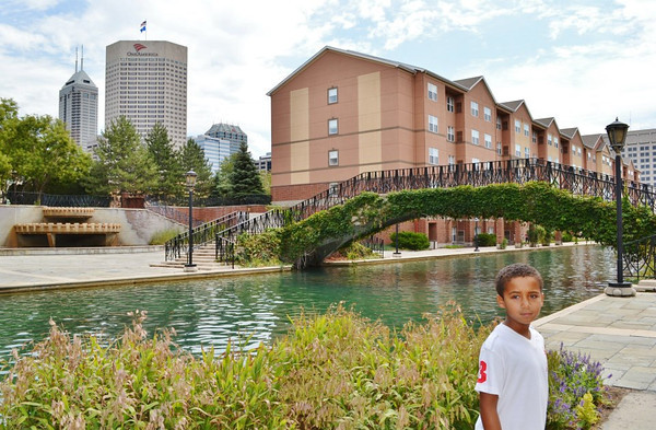 My Grandson, Jalen Kemmerlin, downtown Indy on our Canal Adventure last summer<br /> <br /> Photographer's Name: Colleen Sanders Brown<br /> Photographer's City and State: Anderson, IN