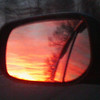 1-16-2013 watching the sunset in my side view mirror.<br /> <br /> Photographer's Name: Salome Lewis<br /> Photographer's City and State: Anderson, IN