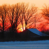 Old barn and sunset over South Anderson.<br /> <br /> Photographer's Name: Brian Fox<br /> Photographer's City and State: Anderson, Ind.
