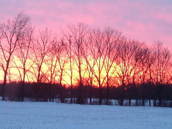 Sunset Friday, Jan. 24 off 450 East.<br /> <br /> Photographer's Name: David Phillips<br /> Photographer's City and State: Anderson, Ind.