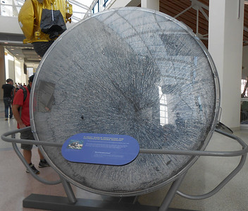 Bottom of space capsule after landing