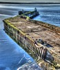Breakwater at Burghead Harbour on Saturday 21st January