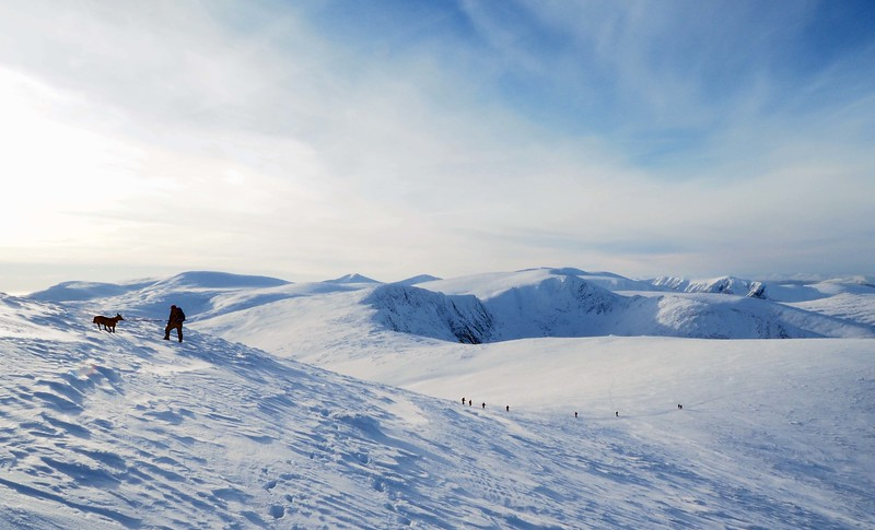 Shonagh and Emmy on Cairngorm - 7th January 2018