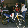 This was the first bike I bought there, a Yamaha DT 200. If I had known more about riding I would've stuck with it. It was cheap and efficient, but needed street tires; it had squirrely handling which was only a result of the knobby dirt rubber it wore. Otherwise, this is a fairly good ride in congested, generally low-speed Japan, where quickness matters much more than top speed.