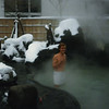 Bliss: a hot spring in winter time, with hot sake...