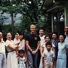 The family of the Guji, the chief priest of Hachiman's Shinto shrine in Mayako. They allowed me to stay with them during the Obon Festival, August 14-15 of 1986. It was really hot and humid.<br /> <br /> Not that I stuck out much in rural Japan.