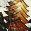 A pagoda at Miyajima.