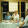 Priest Bunmyo's wife, Bunmyo, and Eizan hosting me for dinner.