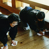 Tenri sect believers are CRAZY for cleaning. They have a metaphor for dust in the world equaling impurities on our souls. They are constantly cleaning this, polishing that, and wiping the other thing. The chore pictured above is common enough--I'd done it many times at temples in exchange for a night's lodging--but these women are doing it during the middle of the day, which you just don't see. Someone is just going to walk on the floor. You do this at the start or the end of the day...unless you are obsessed.<br /> <br /> I'm not saying. I'm just saying.