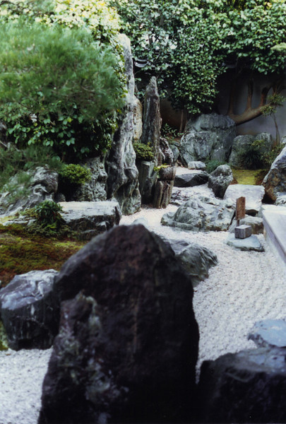 A garden at the Daisen-in of Daitoku-ji, one of the main Zen sect temples, Kyoto.