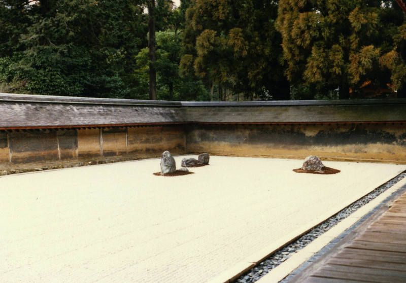 """Ryoan-ji's famous landscape garden. It's said to be impossible to photograph it all. (Just because *I* couldn't doesn't necessarily prove the point...)<br /> <br /> <br /> <a href=""""http://www.sacred-destinations.com/japan/kyoto-ryoanji.htm"""">http://www.sacred-destinations.com/japan/kyoto-ryoanji.htm</a>"""